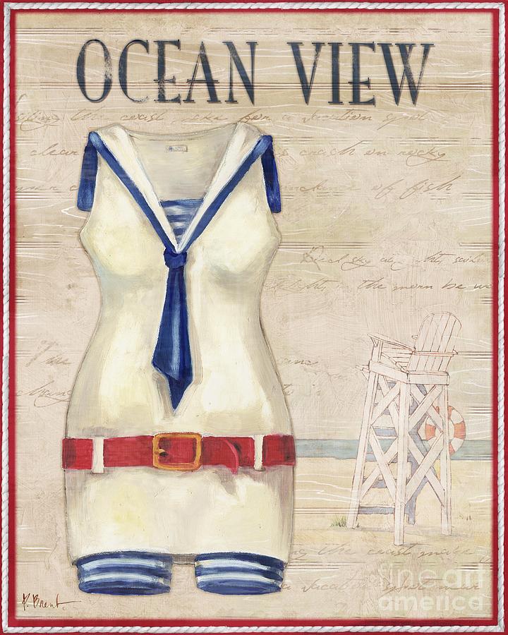 Vintage Painting - Vintage Bathing Suits IIi by Paul Brent