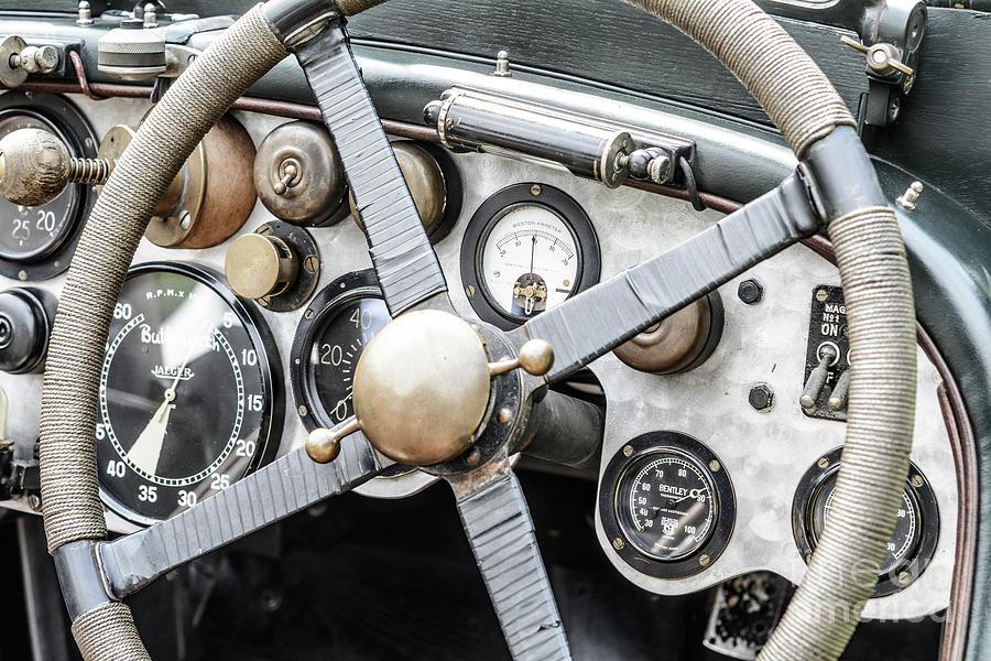 Vintage Bentley Race Car Interior Photograph By Sjoerd Van Der Wal