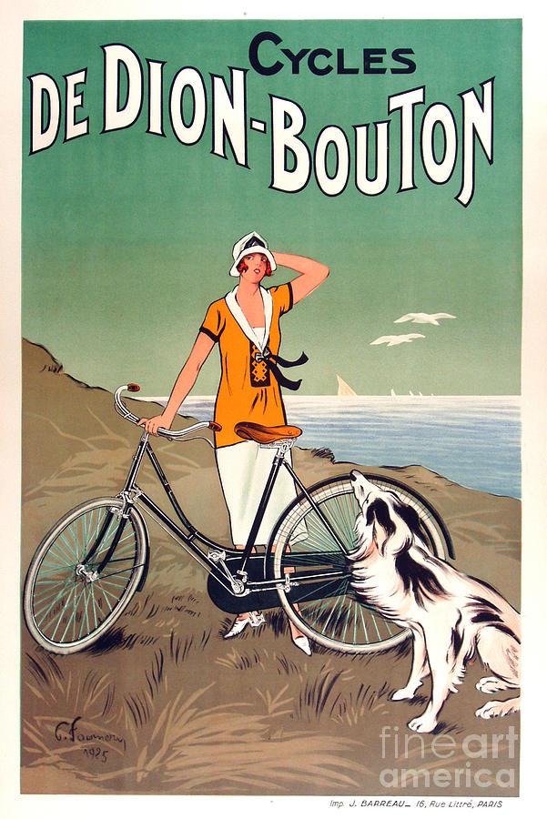 Vintage Bicycle Advertising Painting