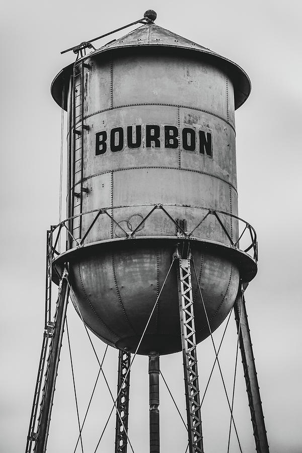 America Photograph - Vintage Bourbon Black And White Wall Art by Gregory Ballos
