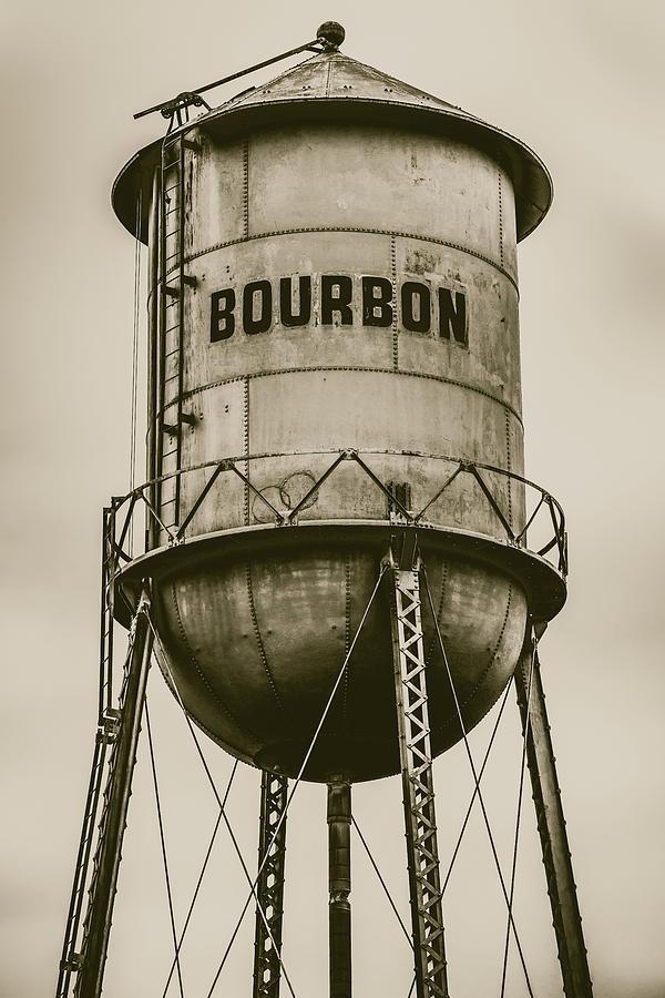 Vintage Bourbon Sepia Wall Art Photograph by Gregory Ballos