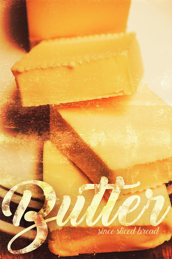 Vintage Photograph - Vintage Butter Advertising. Kitchen Art by Jorgo Photography - Wall Art Gallery