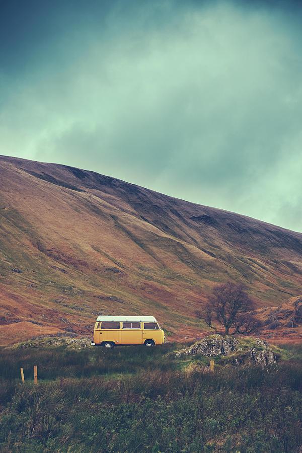 Europe Photograph - Vintage Camper Van In The Wilderness by Mr Doomits