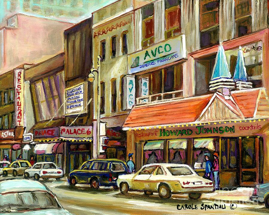 vintage canadian scenes original art downtown montreal paintings for