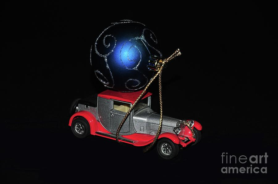 Object Photograph - Vintage Car Carrying Christmas Ornament by Akshay Thaker- PhotOvation