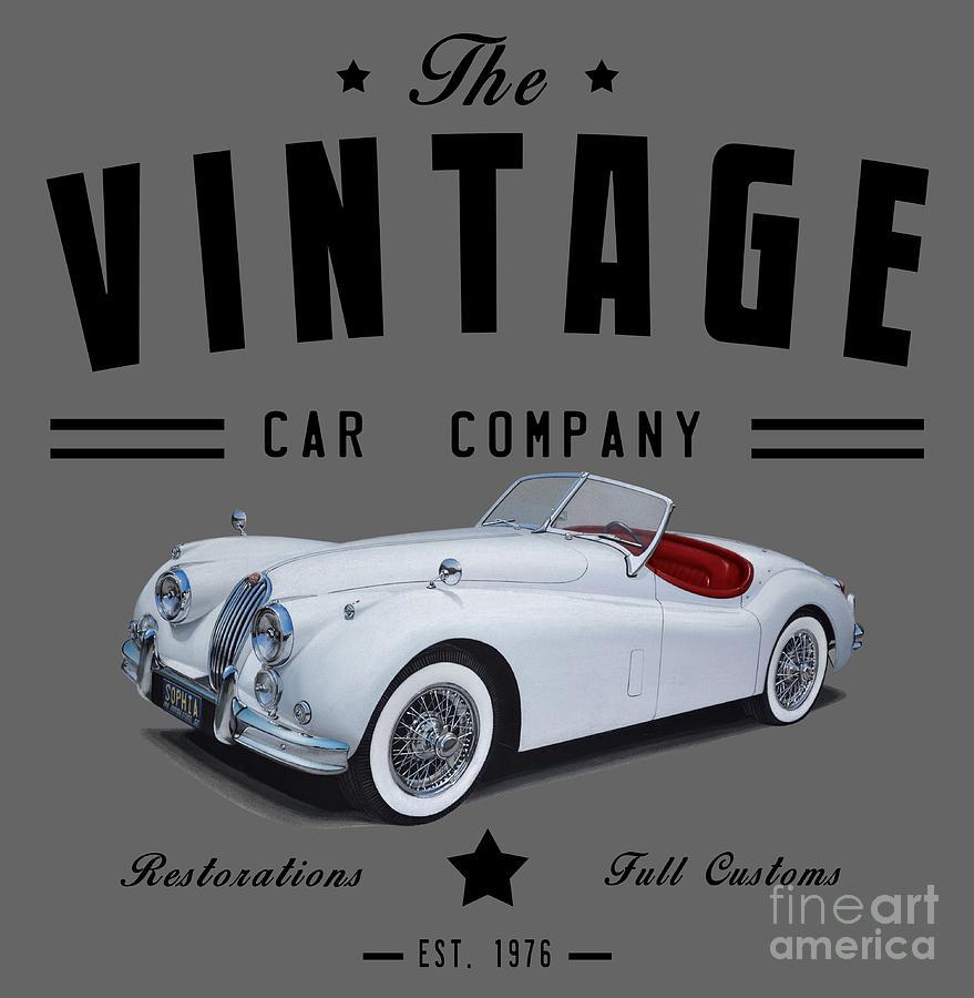 Vintage Car Company Digital Art by Paul Kuras