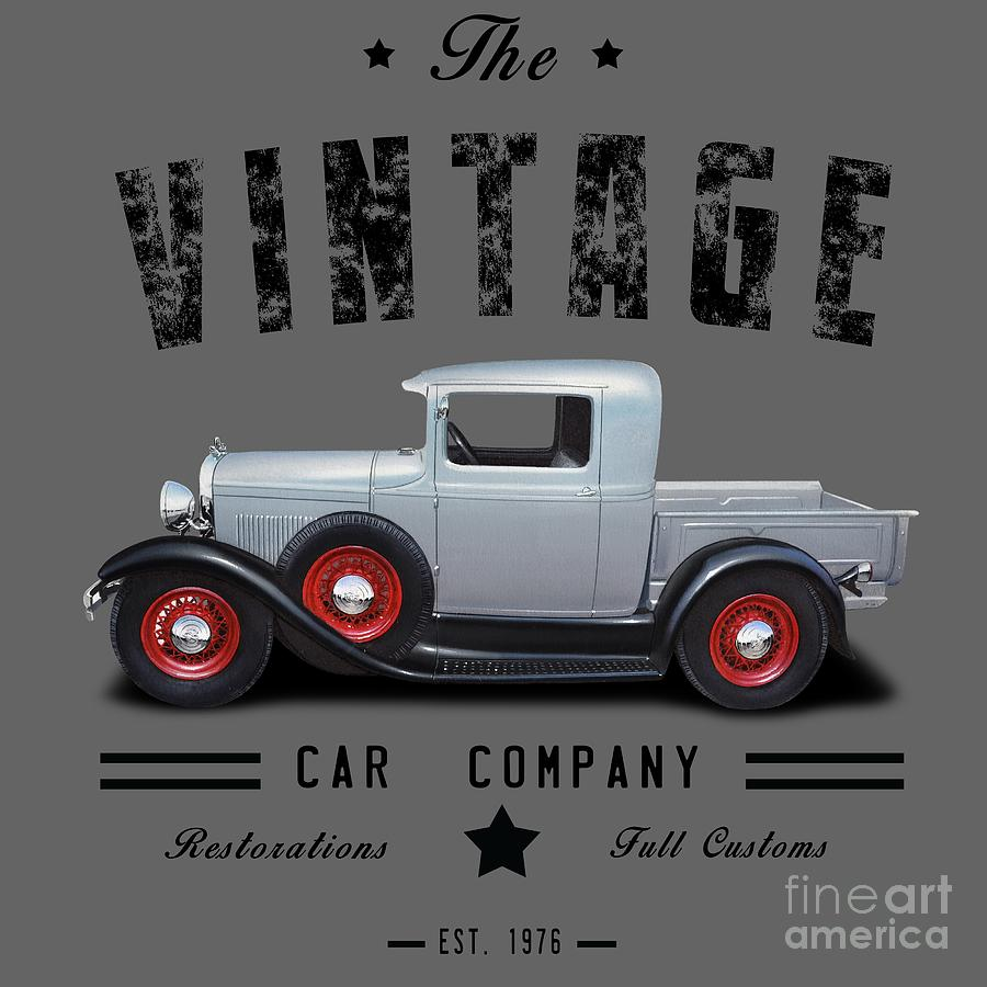 Vintage Car Company Street Rod Digital Art by Paul Kuras