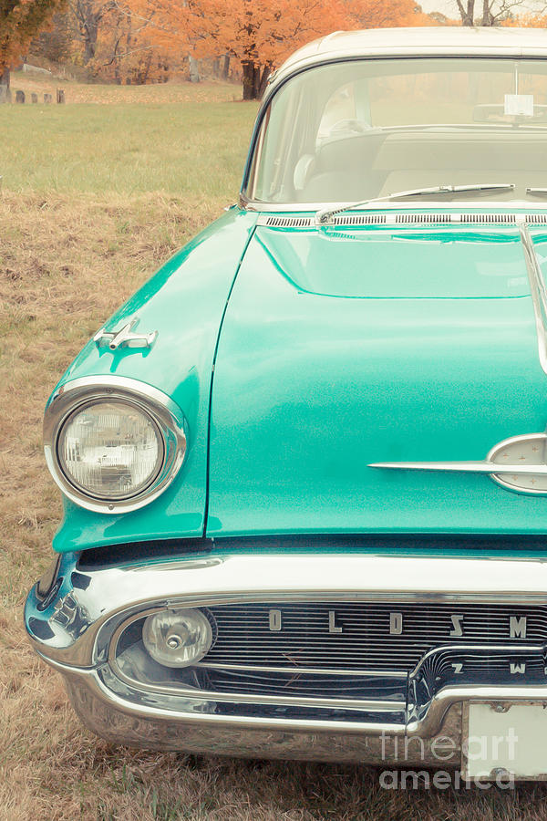 Vintage Car In A Field Photograph