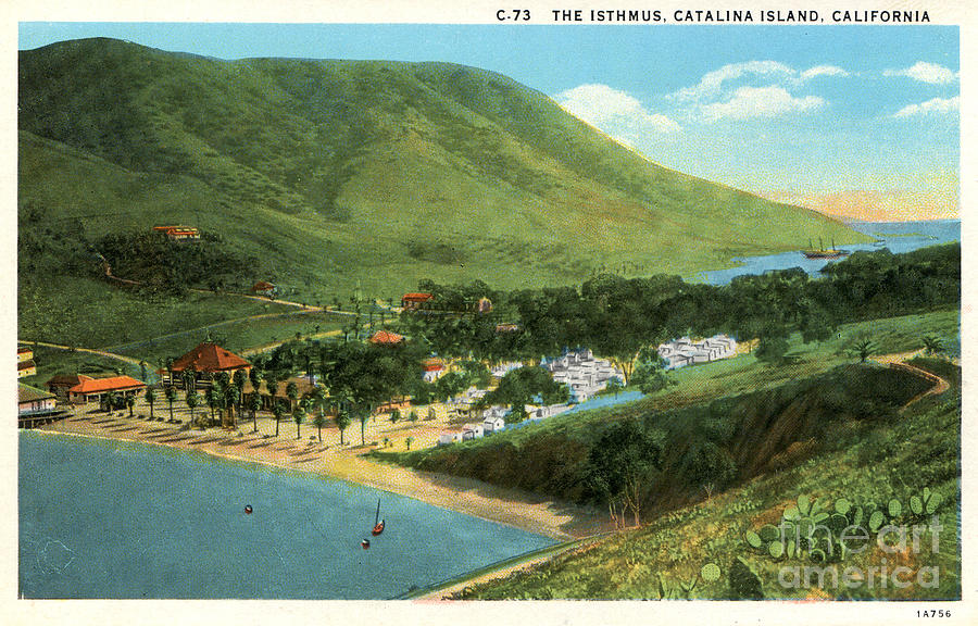Catalina Island Photograph - Vintage Catalina Island - Isthmus - Two Harbors by Sad Hill - Bizarre Los Angeles Archive