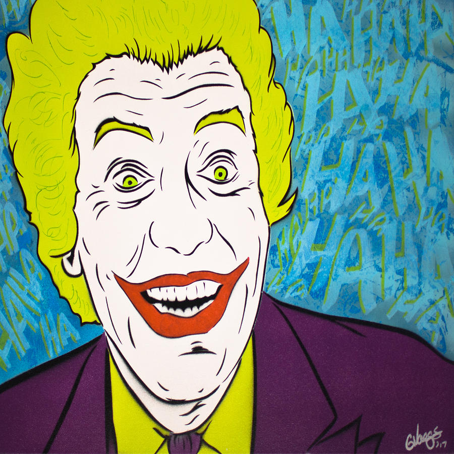 Joker Painting - Vintage Cesar Romeros Joker by Glenn Vaags