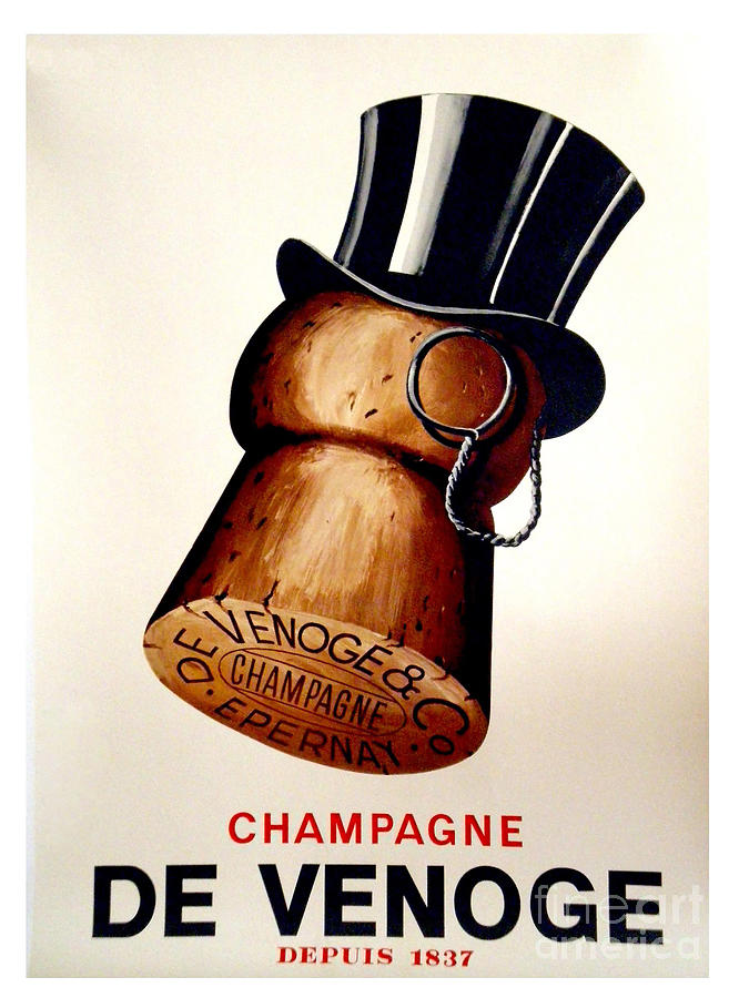 Champagne Painting - Vintage Champagne by Mindy Sommers