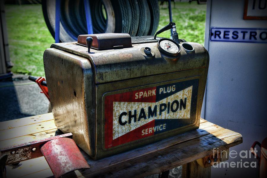 Paul Ward Photograph - Vintage Champion Spark Plug Cleaner by Paul Ward