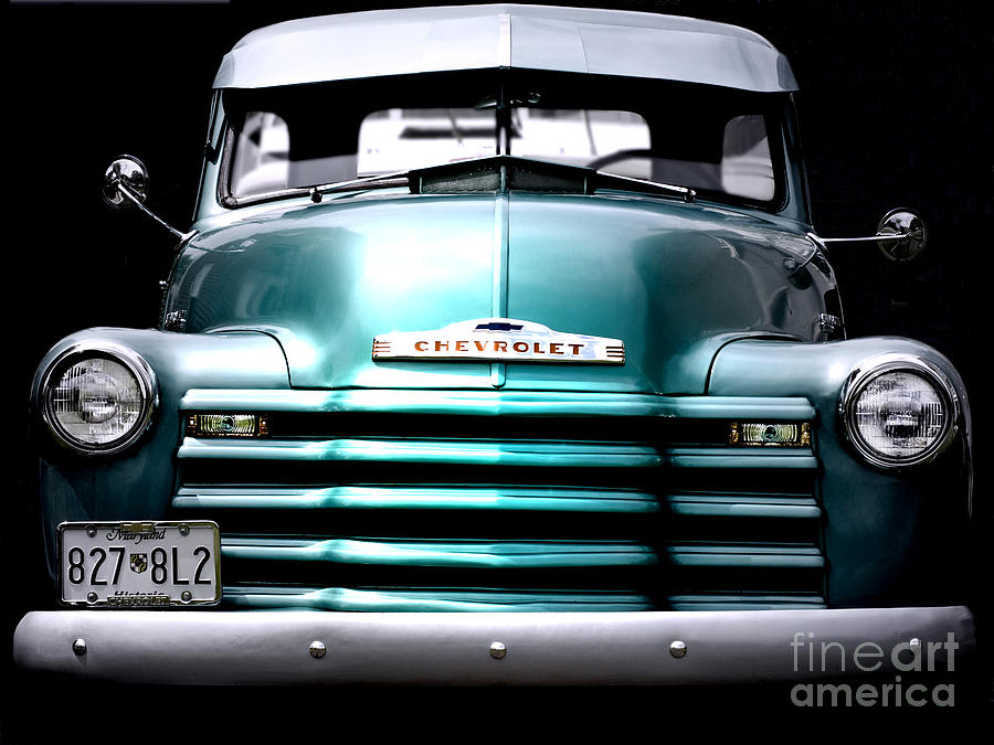 Vintage Photograph - Vintage Chevy 3100 Pickup Truck by Steven Digman