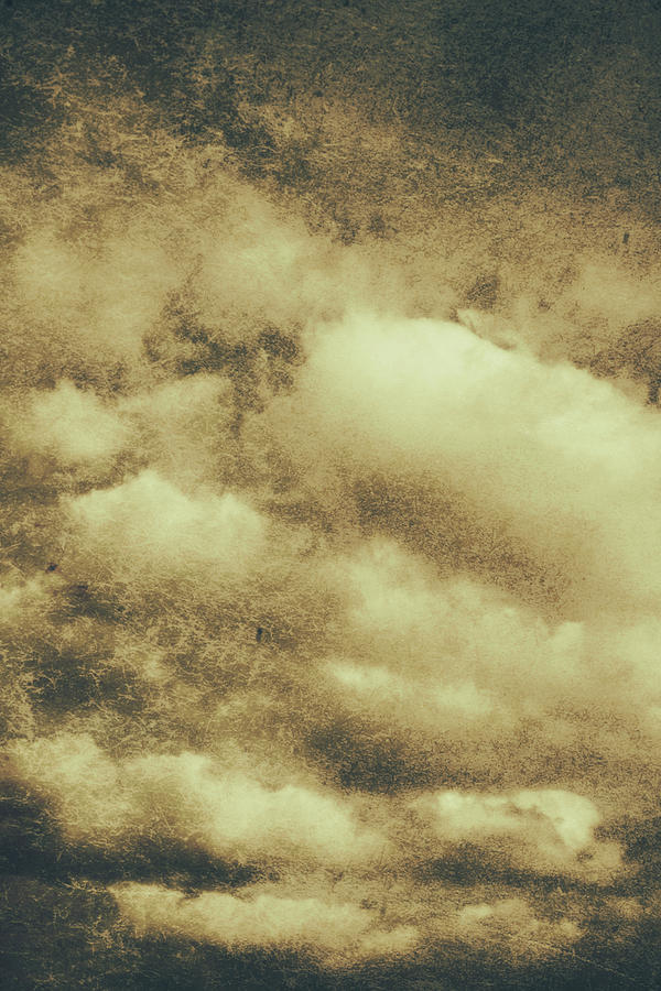 Vintage Cloudy Sky. Old Day Background Photograph by Jorgo ...