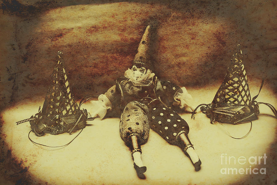 Birthday Photograph - Vintage Clown Doll. Old Parties by Jorgo Photography - Wall Art Gallery
