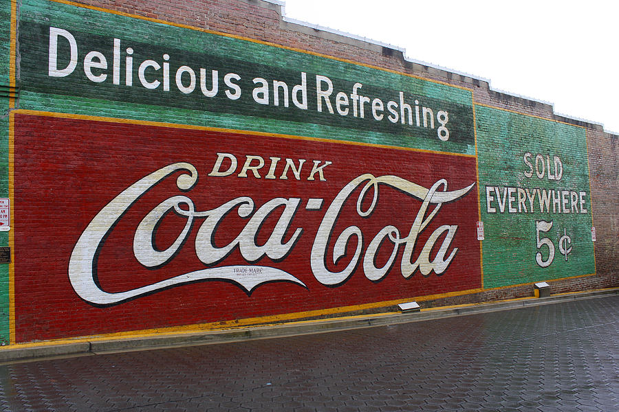 Vintage coca cola mural photograph by tammy goad for Coca cola wall mural