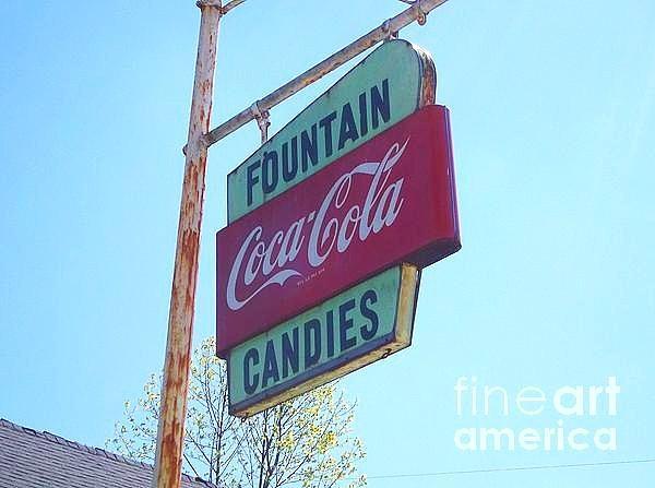 Coca-cola Painting - Vintage Coca-cola Sign by Donna Dixon