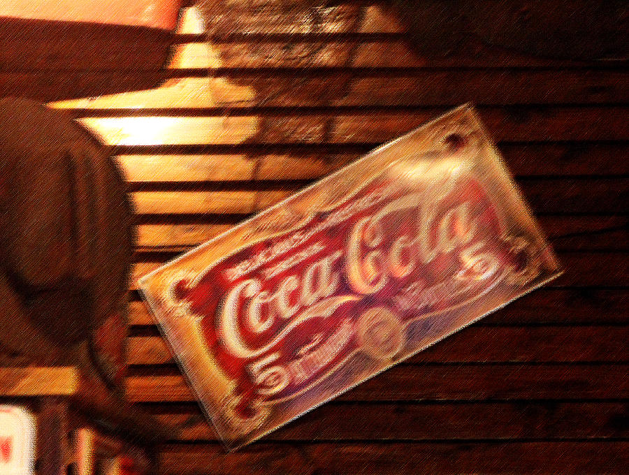 Vintage Photograph - Vintage Coca Cola Sign by Linda Phelps