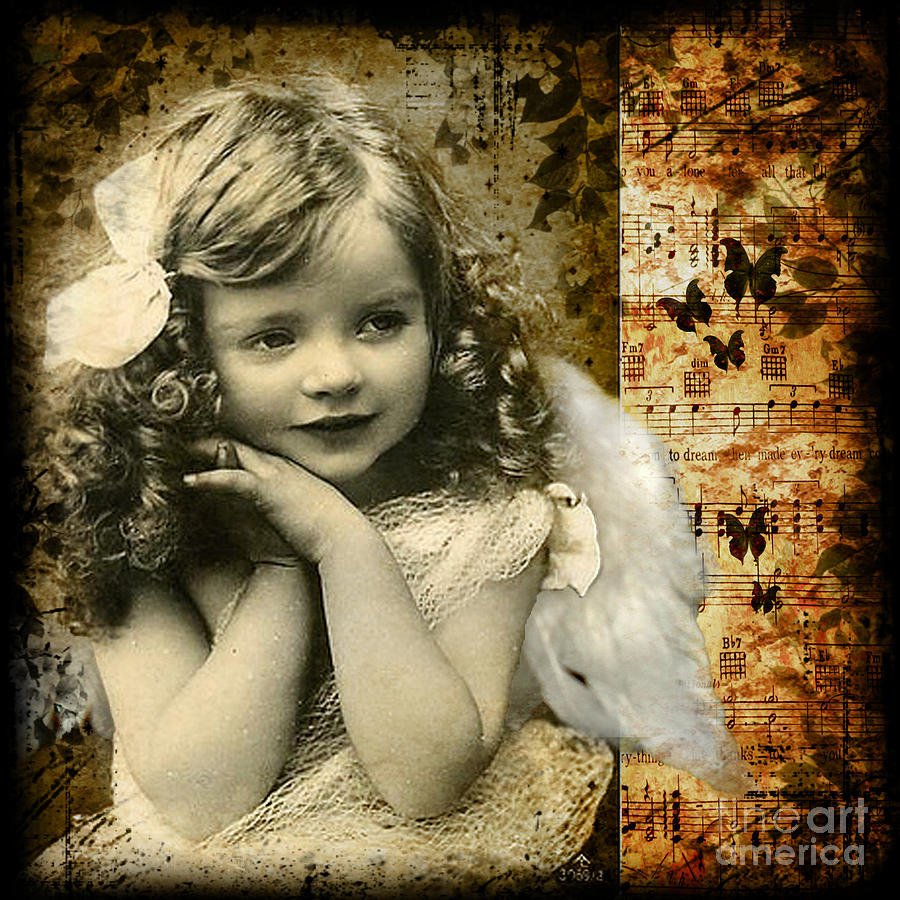 Cute Photograph - Vintage Collage 22 by Angelina Cornidez