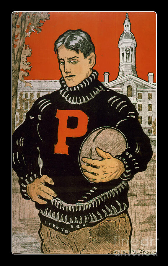 Vintage College Football Princeton Painting