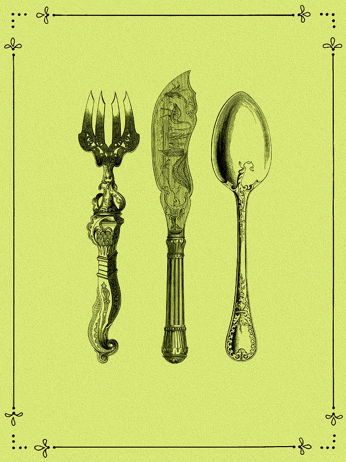 Cutlery Photograph - Vintage Cutlery 4 by Mark Rogan