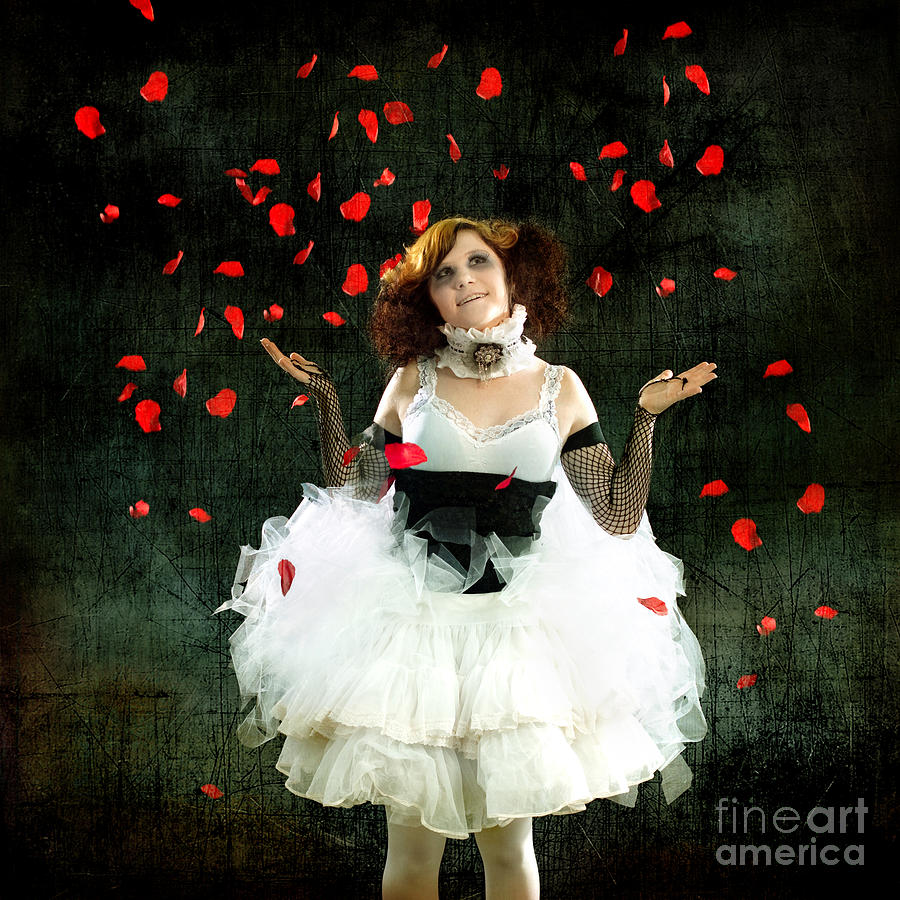 Vintage Dancer Series Raining Rose Petals  by Cindy Singleton