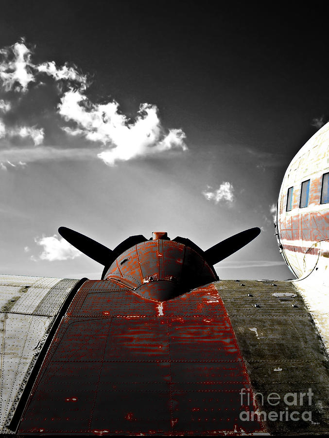Vintage Airplane Photograph - Vintage Dc-3 Aircraft  by Steven Digman