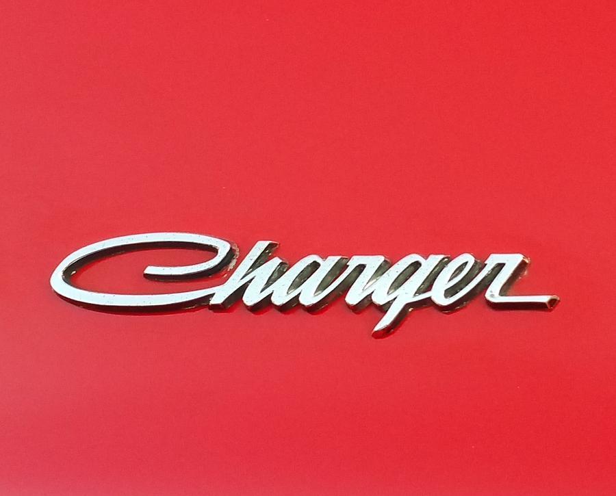 Vintage Cars Photograph - Vintage Dodge Charger Logo by Linda McAlpine