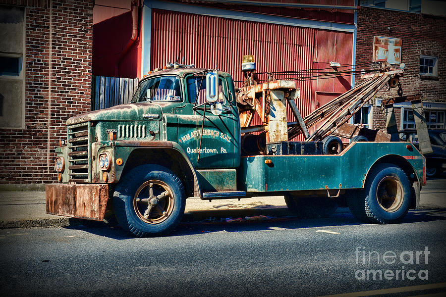Vintage Dodge Tow Truck 2 Photograph By Paul Ward
