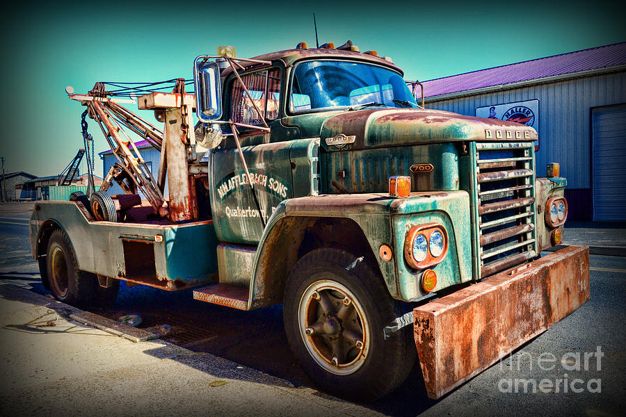 Vintage Dodge Tow Truck Photograph By Paul Ward