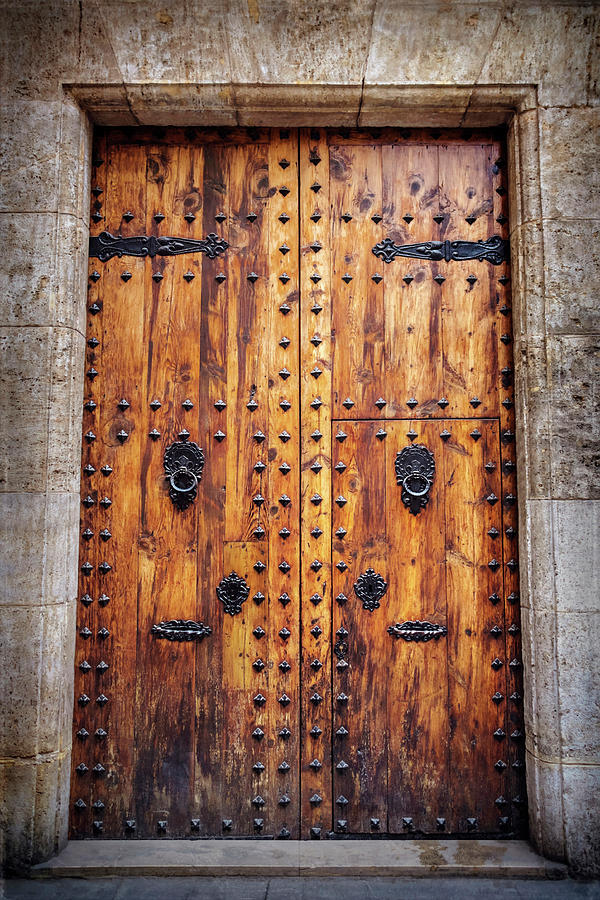 Vintage door in valencia spain photograph by carol japp - Vintage valencia ...
