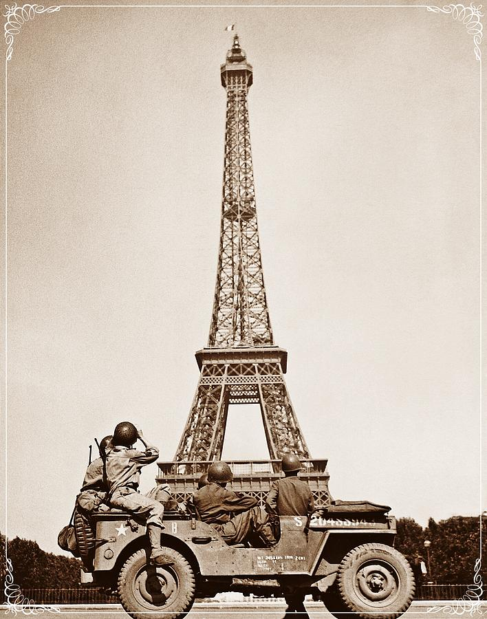 Europe Photograph - Vintage Eiffel-tower by FL collection