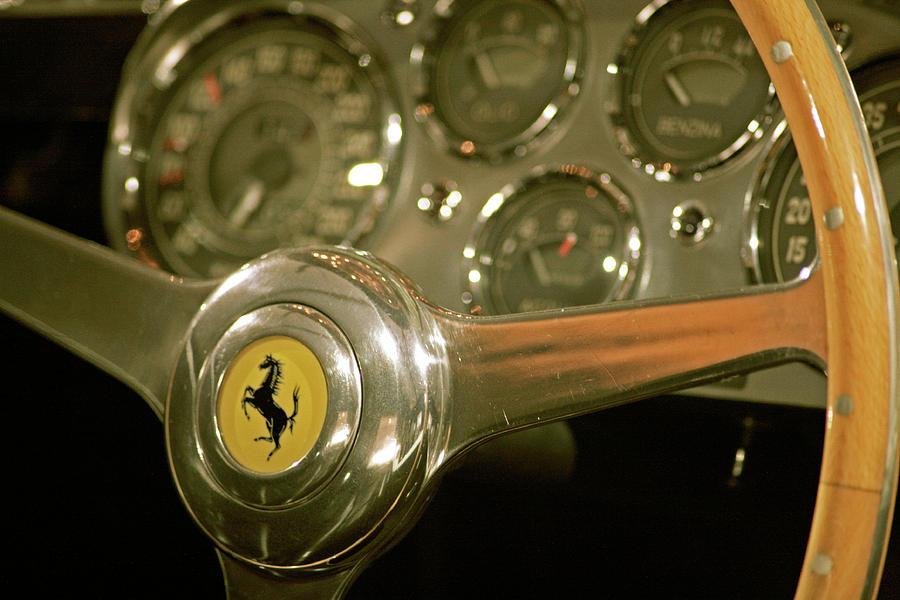 Vintage Ferrari Photograph - Vintage Ferrari Steering Wheel by Ave Guevara