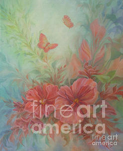 Flowers Painting - Vintage Floral by Wendy Froshay