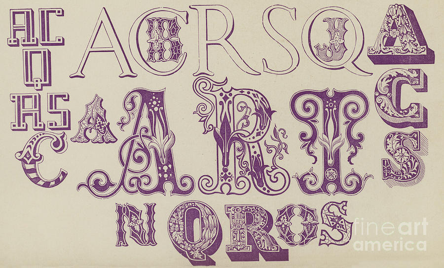 Vintage Fonts Examples Of Letters