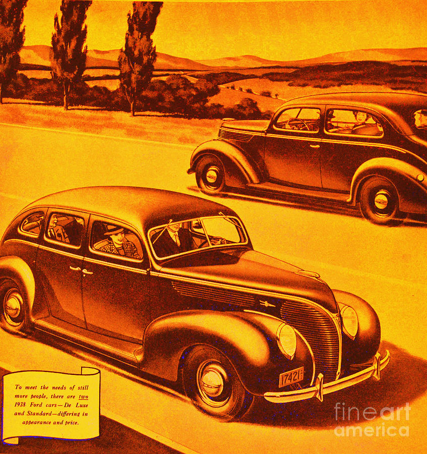 Vintage Photograph - Vintage Ford Advertisement by Diane montana Jansson