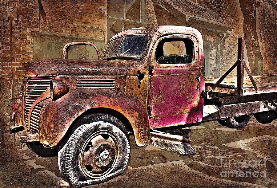 Truck Photograph - Vintage Fargo Gone Flat by Nina Silver