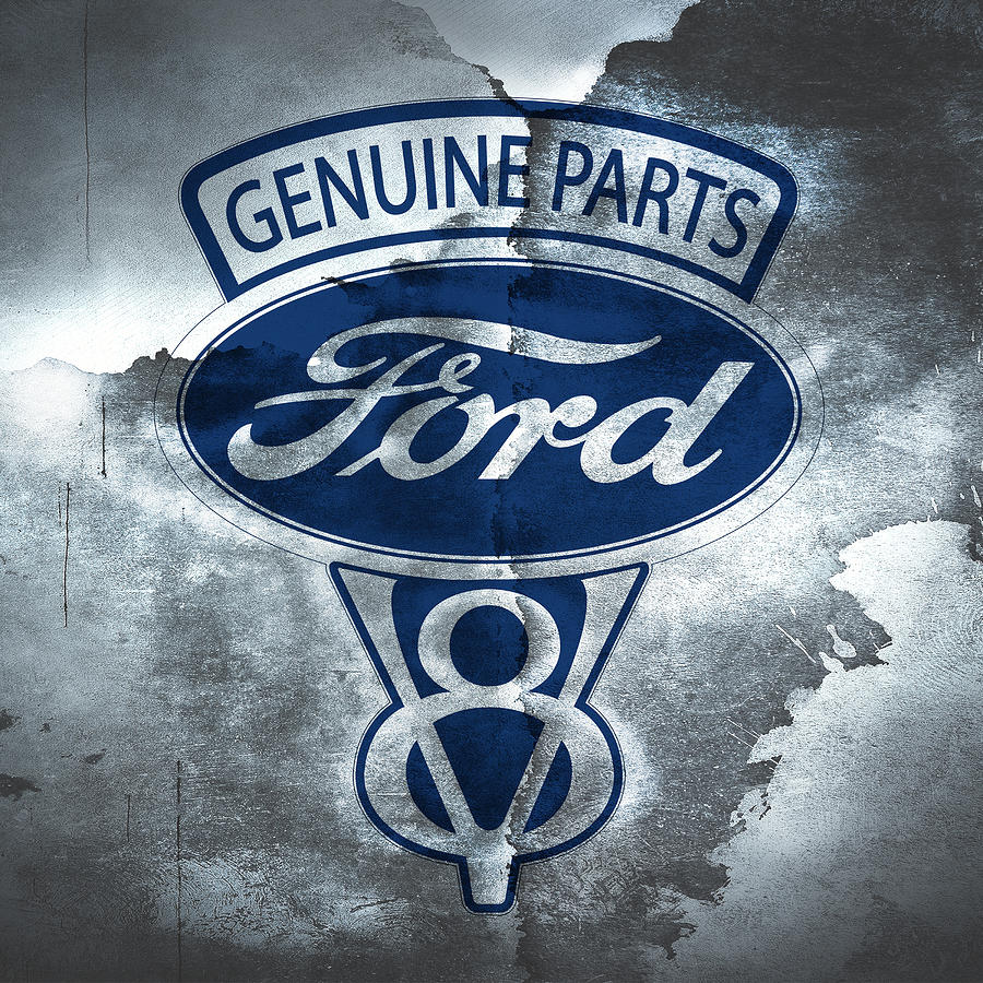 Ford Photograph - Vintage Ford V8  by Mark Rogan