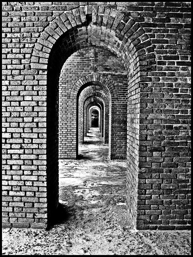 Arch Photograph - Vintage Fort by Perry Webster