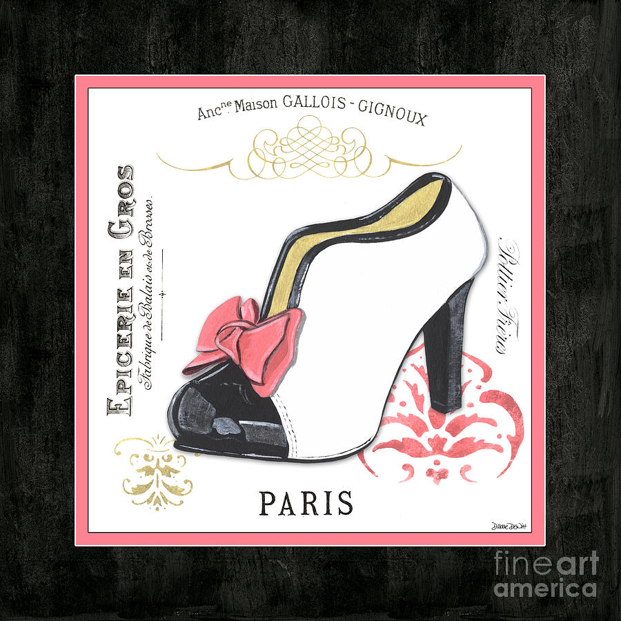 Fashion Painting - Vintage French Shoes 2 by Debbie DeWitt