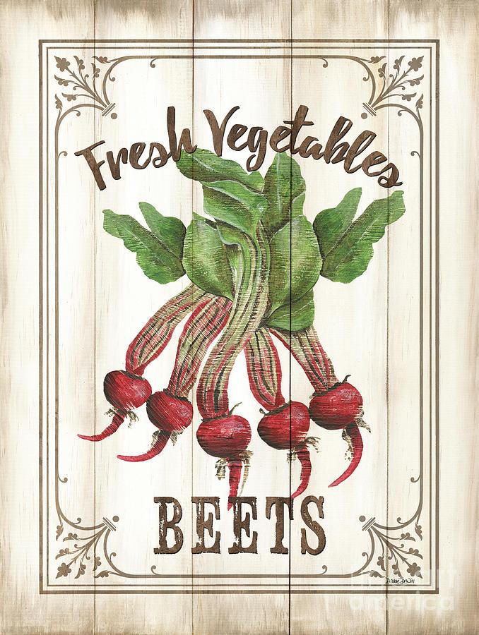 Beets Painting - Vintage Fresh Vegetables 1 by Debbie DeWitt