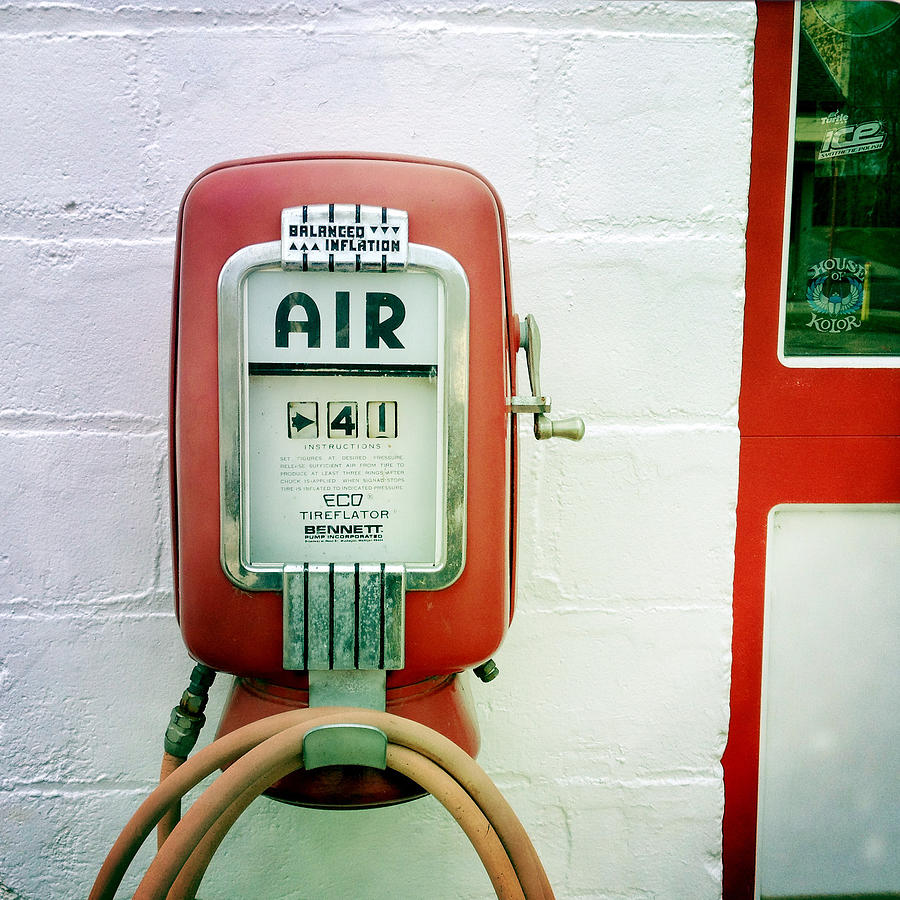 Vintage Gas Station Air Pump