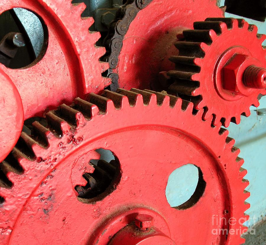 Gears Photograph - Vintage Gears by Yali Shi
