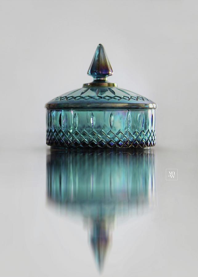 Vintage Glass Candy Jar by Yvonne Wright