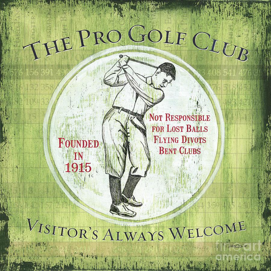 Golf Painting - Vintage Golf Green 2 by Debbie DeWitt
