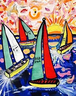Green Bay Painting - Vintage Green Bay Sailing by Jonathon Hansen