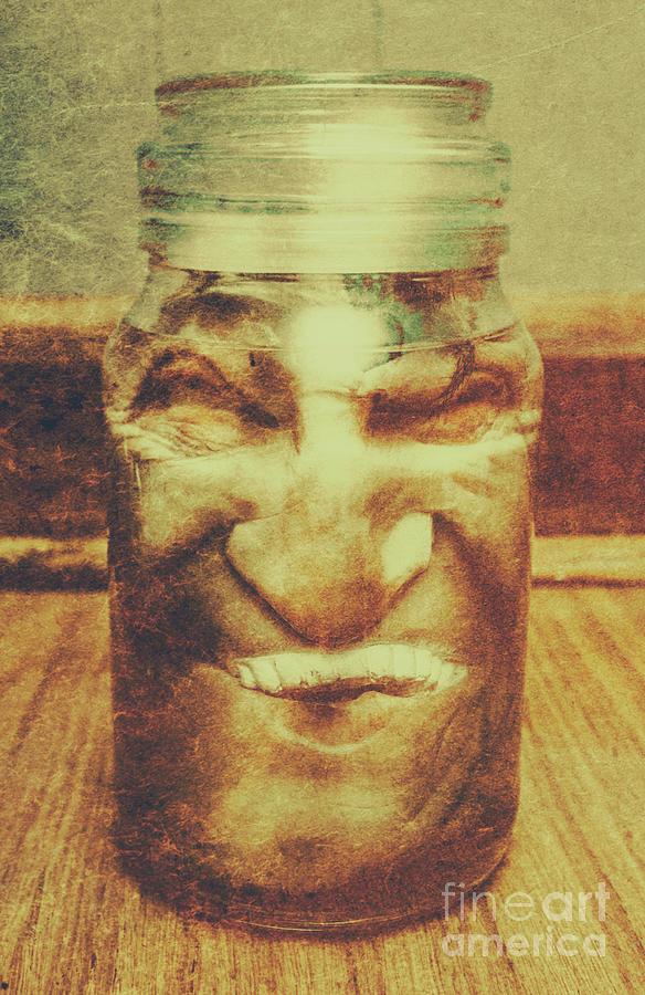 Jar Photograph - Vintage Halloween Horror Jar by Jorgo Photography - Wall Art Gallery