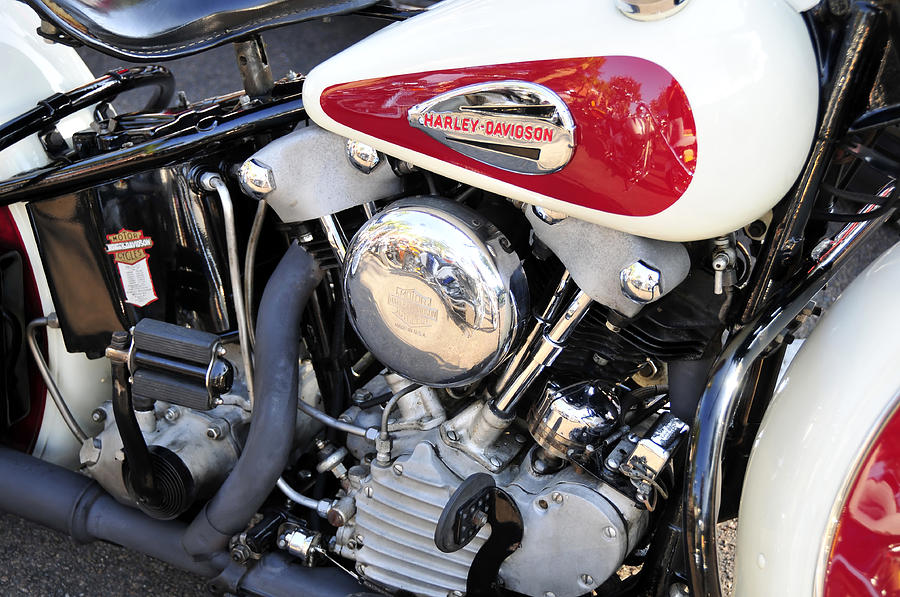 Harley Davidson: Vintage Harley V Twin Photograph By David Lee Thompson