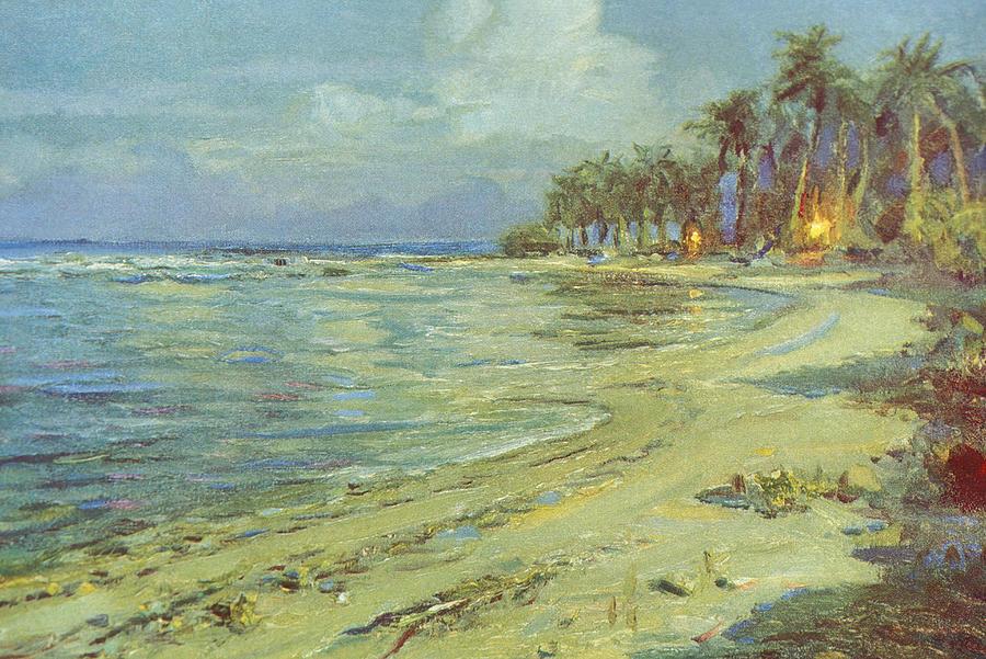 vintage hawaiian art painting by hawaiian legacy archive