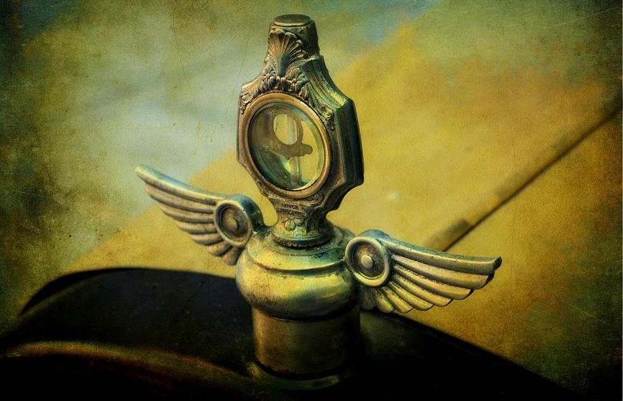 Cars Photograph - Vintage Hood Ornament by Cathie Tyler